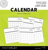 Undated Spiral Bound 12x12 Undated Calendar - Photoplay - PRE ORDER