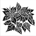 Poinsettia 12x12 Stencil - The Crafter's Workshop