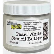 Pearl White 2oz Stencil Butter - The Cafter's Workshop