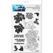 Lovely Lantanas Simon Hurley create. Clear Stamps - Ranger