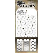 Shifter Multi Harlequin Tim Holtz Layered Stencil Set - Stampers Anonymous