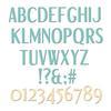 Stylized Alphabet Thinlits Dies - Sizzix - PRE ORDER