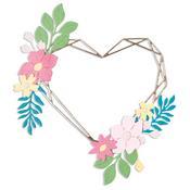 Floral Geo Heart Frame Thinlits Dies - Sizzix