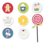 Dessert Treats Framelits Dies With Stamps - Sizzix - PRE ORDER