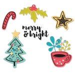Merry Motifs Framelits Dies With Stamps - Sizzix