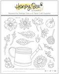 Garden Harvest Florals 6x6 Stamp Set - Honey Bee Stamps