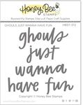 Ghouls Just Wanna Have Fun 3x3 Stamp Set - Honey Bee Stamps