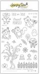 Trick Or Treat 4x6 Stamp Set  - Honey Bee Stamps