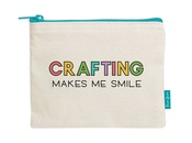 Crafting Makes Me Smile Pouch - Lawn Fawn