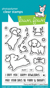 Furry And Bright Clear Stamps - Lawn Fawn