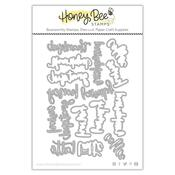 Bitty Buzzwords: Fall Honey Cuts - Honey Bee Stamps