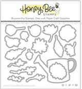 Garden Harvest Florals Honey Cuts - Honey Bee Stamps