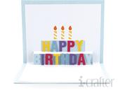 Happy Birthday Pop Up Card Die - i-Crafter