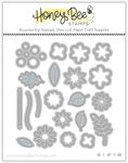 Itty Bitty Fall Flowers Honey Cuts - Honey Bee Stamps