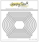 Stacking Art Deco Labels Honey Cuts - Honey Bee Stamps
