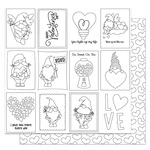 Tulla & Norbert Love Story Color Me 12x12 Sheet - Photoplay