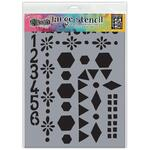 Number Frame Dyan Reaveley's Dylusions Stencils & Masks