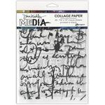 Text Collage Dina Wakley Media Collage Tissue Paper