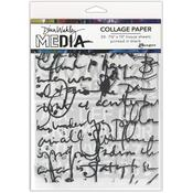 Text Collage Dina Wakley Media Collage Tissue Paper - PRE ORDER