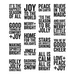 Bold Tidings Mini Tim Holtz Cling Stamps - Stampers Anonymous