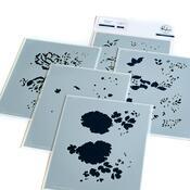 Lush Peonies Layering Stencils - Pinkfresh Studio