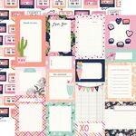 Journal Elements Paper - Happy Hearts - Simple Stories - PRE ORDER