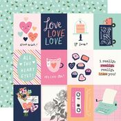 3x4 Elements Paper - Happy Hearts - Simple Stories - PRE ORDER