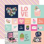2x2/4x4 Elements Paper - Happy Hearts - Simple Stories - PRE ORDER