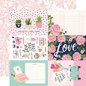 4x6 Elements Paper - Happy Hearts - Simple Stories - PRE ORDER