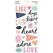 Happy Hearts Foam Stickers - Simple Stories - PRE ORDER