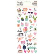 Happy Hearts Puffy Stickers - Simple Stories - PRE ORDER