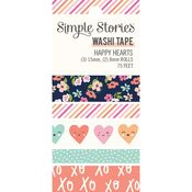 Happy Hearts Washi Tape - Simple Stories - PRE ORDER