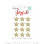 Joyful Gold Glitter Puffy Stars - Cocoa Vanilla Studio - PRE ORDER