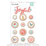 Joyful Wood Epoxy Buttons - Cocoa Vanila Studio - PRE ORDER