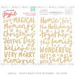 Joyful Puffy Gold Title Stickers - Cocoa Vanilla Studio - PRE ORDER