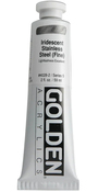Iridescent Stainless Steel - Golden Heavy Body Acrylic 2oz