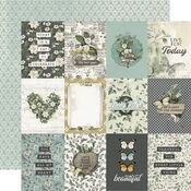 3x4 Elements Paper - Simple Vintage Weathered Garden - Simple Stories