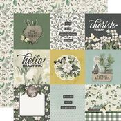 4x4 Elements Paper - Simple Vintage Weathered Garden - Simple Stories