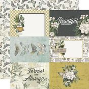 4x6 Elements Paper - Simple Vintage Weathered Garden - Simple Stories