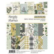 Simple Vintage Weathered Garden 6x8 Pad - Simple Stories