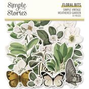 Simple Vintage Weathered Garden Floral Bits & Pieces - Simple Stories