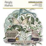 Simple Vintage Weathered Garden Chipboard Clusters - Simple Stories