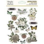 Simple Vintage Weathered Garden Layered Stickers - Simple Stories