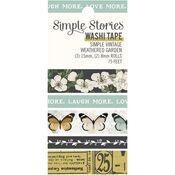 Simple Vintage Weathered Garden Washi Tape - Simple Stories