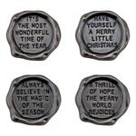 Christmas Metal Quote Seals - Tim Holtz Idea-ology - PRE ORDER