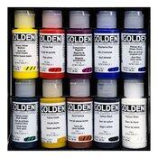 10 Piece Fluid Acrylics Set - Golden