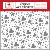 Heart Bouquet Stencil - Hello Valentine - Echo Park - PRE ORDER - PRE ORDER