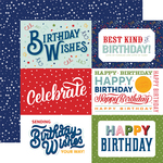 6X4 Journaling Cards Paper - Birthday Salutations - Echo Park - PRE ORDER - PRE ORDER