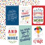 4X6 Journaling Cards Paper - Birthday Salutations - Echo Park - PRE ORDER - PRE ORDER