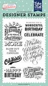 Birthday Wishes Stamp Set - Birthday Salutations - Echo Park - PRE ORDER - PRE ORDER